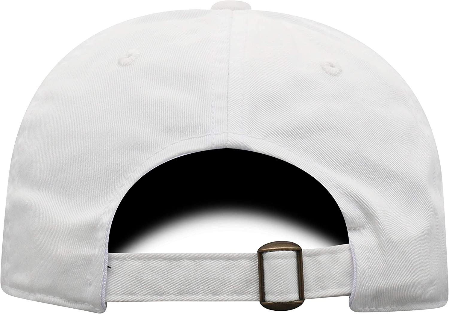 Top of the World Mens Adjustable Relaxed Fit White Icon Hat