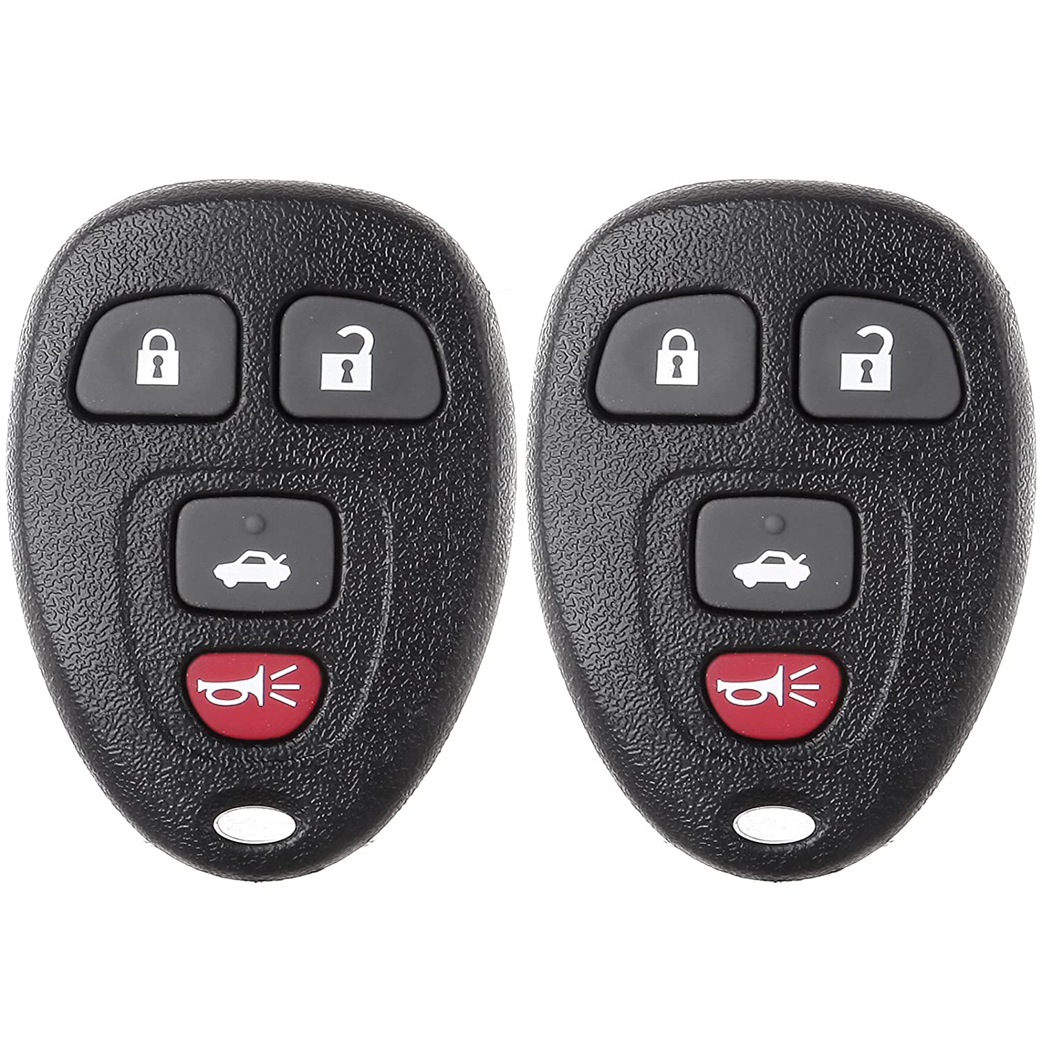 SCITOO 2 New Keyless Entry Remote Car Key Fob 4 Buttons Replacement fit Buick Lucerne Cadillac DTS Chevy Impala Monte Carlo OUC60270 991118-5206-1753302