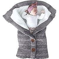 cochecito saco de dormir Manta envolvente para beb/é reci/én nacido saco de dormir ni/ños gruesa para beb/és manta envolvente manta de forro polar suave y c/álida envoltura unisex ni/ños peque/ños