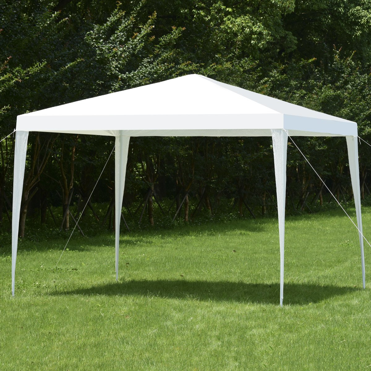 Costway 3X3M Outdoor Garden Gazebo Canopy Party Wedding Tent Shelter (Green)