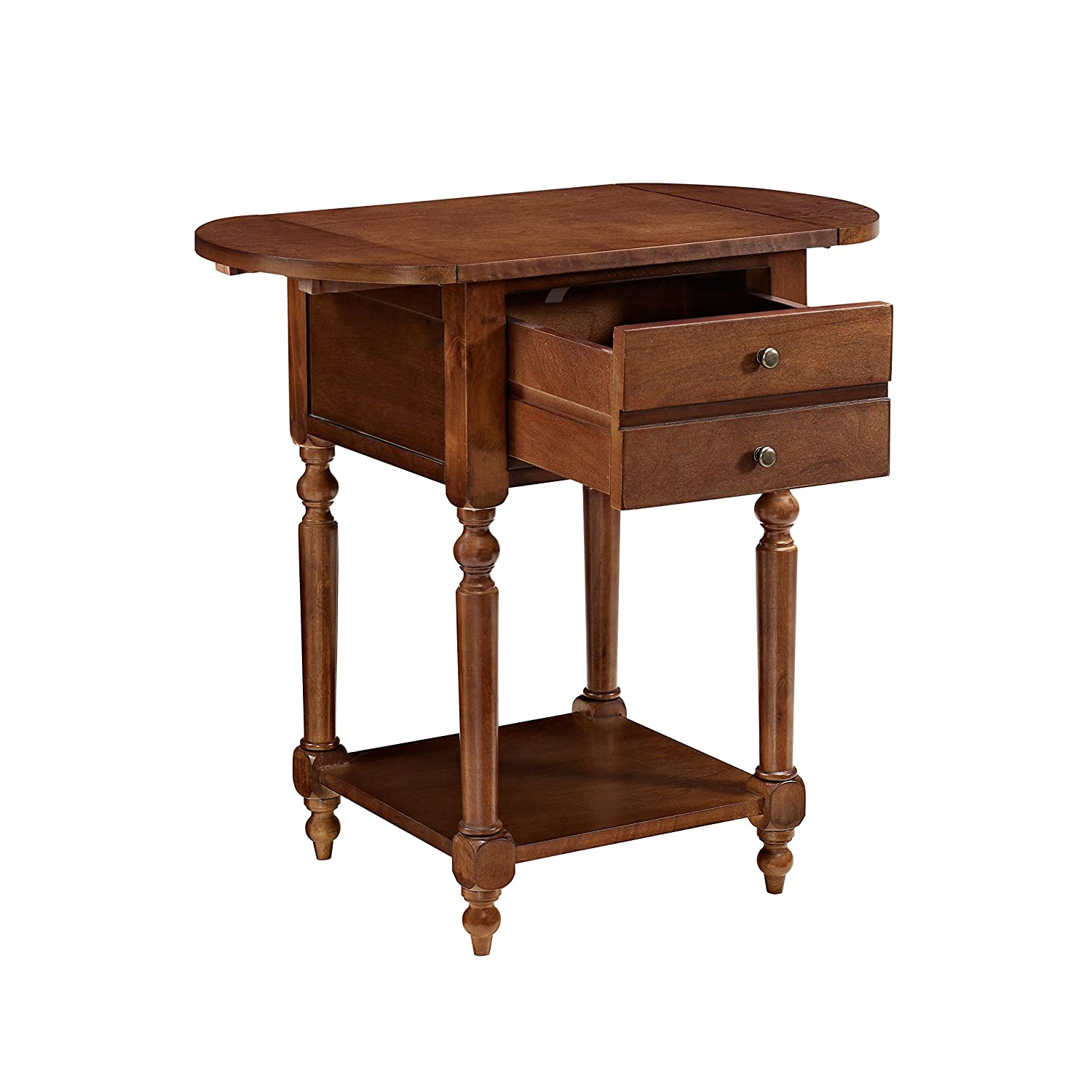 Powell Furniture 16A8258CH Shiloh Cherry Dropleaf Accent Table Small Multicolor