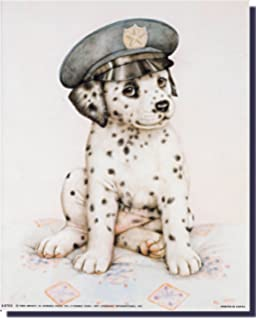 Firefighter Puppy Dog Fire Boat 1 Wall Picture Art Print