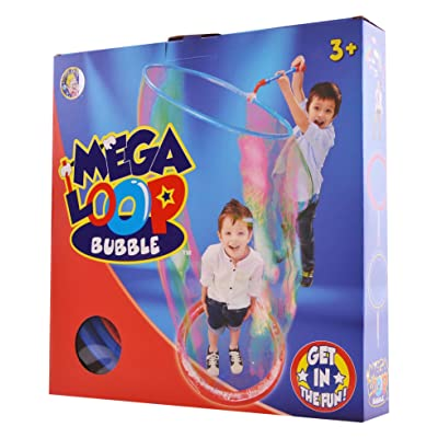 Uncle Bubble Mega Loop Bubble - Includes Wand and Bubble Concentrate: Toys & Games