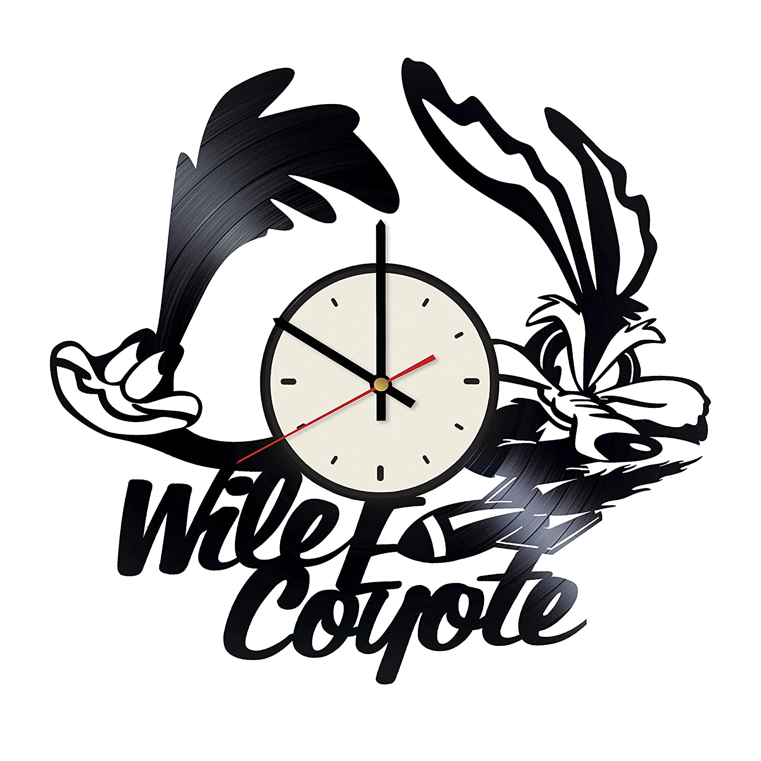 Coyote and Road Runner Vinyl Clock Gift for Vintage Wall Decor Wall Art Living Room Artwork