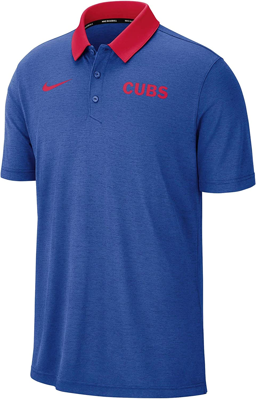 Nike Chicago Cubs MLB Breathe Performance Polo Royal
