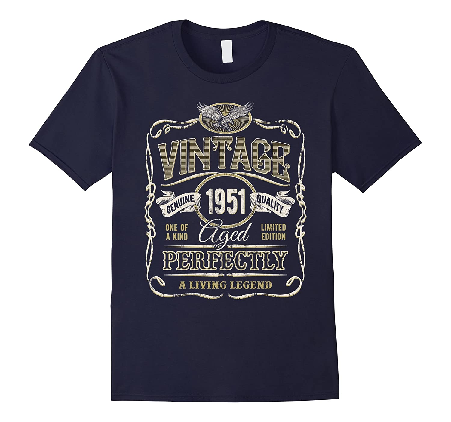 Vintage Made In 1951 T-Shirt Premium 66th Birthday Gift-T-Shirt