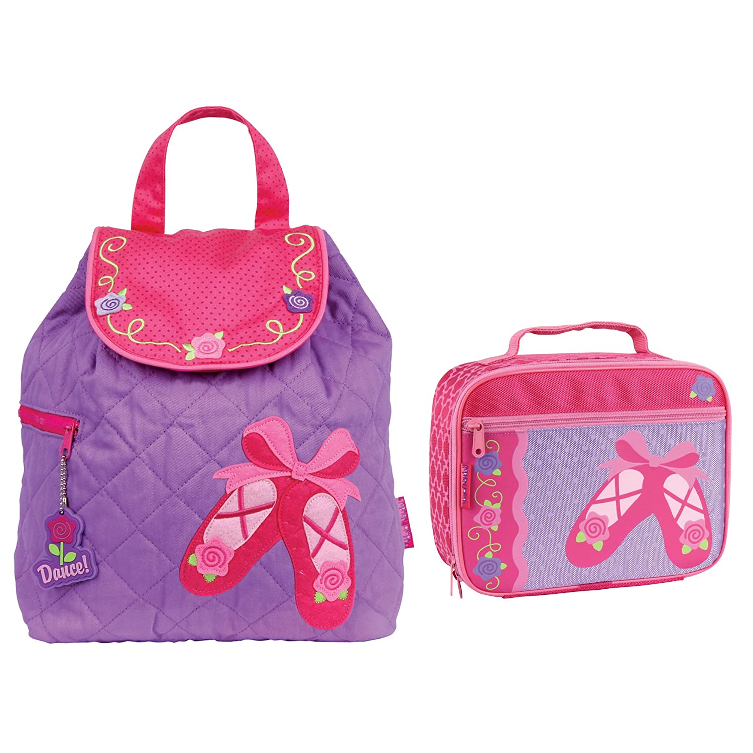 stephen joseph quilted ballet shoes backpack and