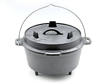 Pulled Pork Gasgrill Dutch Oven : Santos gusseisen dutch oven mit füßen durchmesser 24cm x 9 5cm