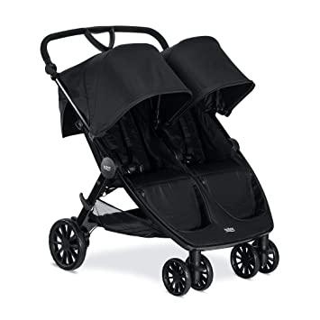 Britax B Lively Double Stroller Up To 100 Pounds Car Seat Compatible Uv 50 Canopy Adjustable