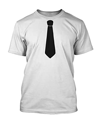 24e30dab Tie T-Shirt Classic Retro Funny Tee, Unisex and Ideal for Fancy Dre TEE  White XX-Large: Amazon.co.uk: Clothing