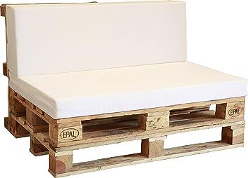 Asiento De Espuma Enfundado En Blanco Para Sofa Palet Amazon Es Jardin