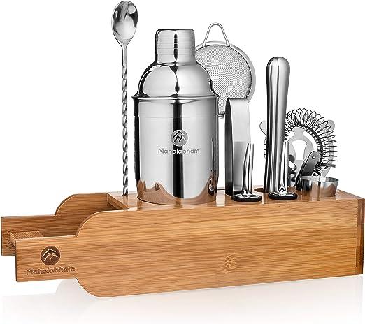 Cocktail Shaker,11 Pcs Set Stainless Steel Cocktail Shaker Mixer Drink Bartender Martini Tools Bar Kit