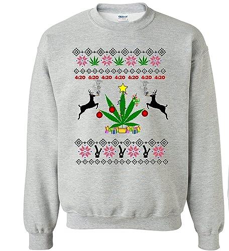 : 4:20 Weed Marijuana Ugly Christmas Sweater