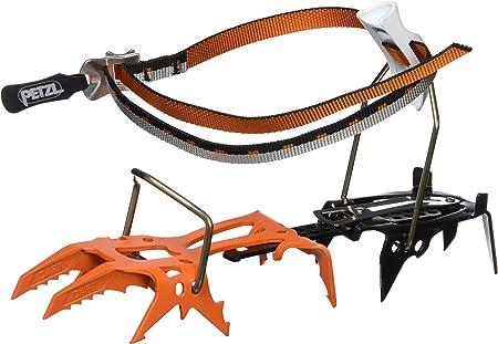 PETZL Adultos Modular Crampones con Dos Frontal Puntas para Escalada en Hielo Lever Lock Fil de bindungssystem dartwin, Naranja, 36 - 45, T21 LLF