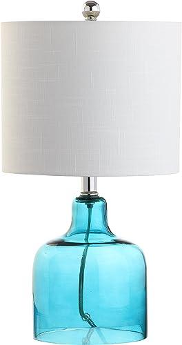 JONATHAN Y JYL1027A Gemma 19″ Glass Bell LED Lamp Coastal,for Bedroom