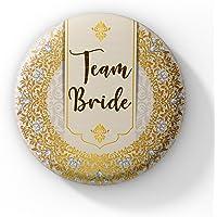 LASTWAVE Team Bride Wedding Badges for Bride WDC-173 (Pack of 30, 44 mm)