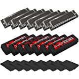Sawtooth ST-HARP-7PACK Screamer Seven Pack Chrome Plated Harmonicas, Key of A, Bb, C, D, E, F, and G with Case and Cloth
