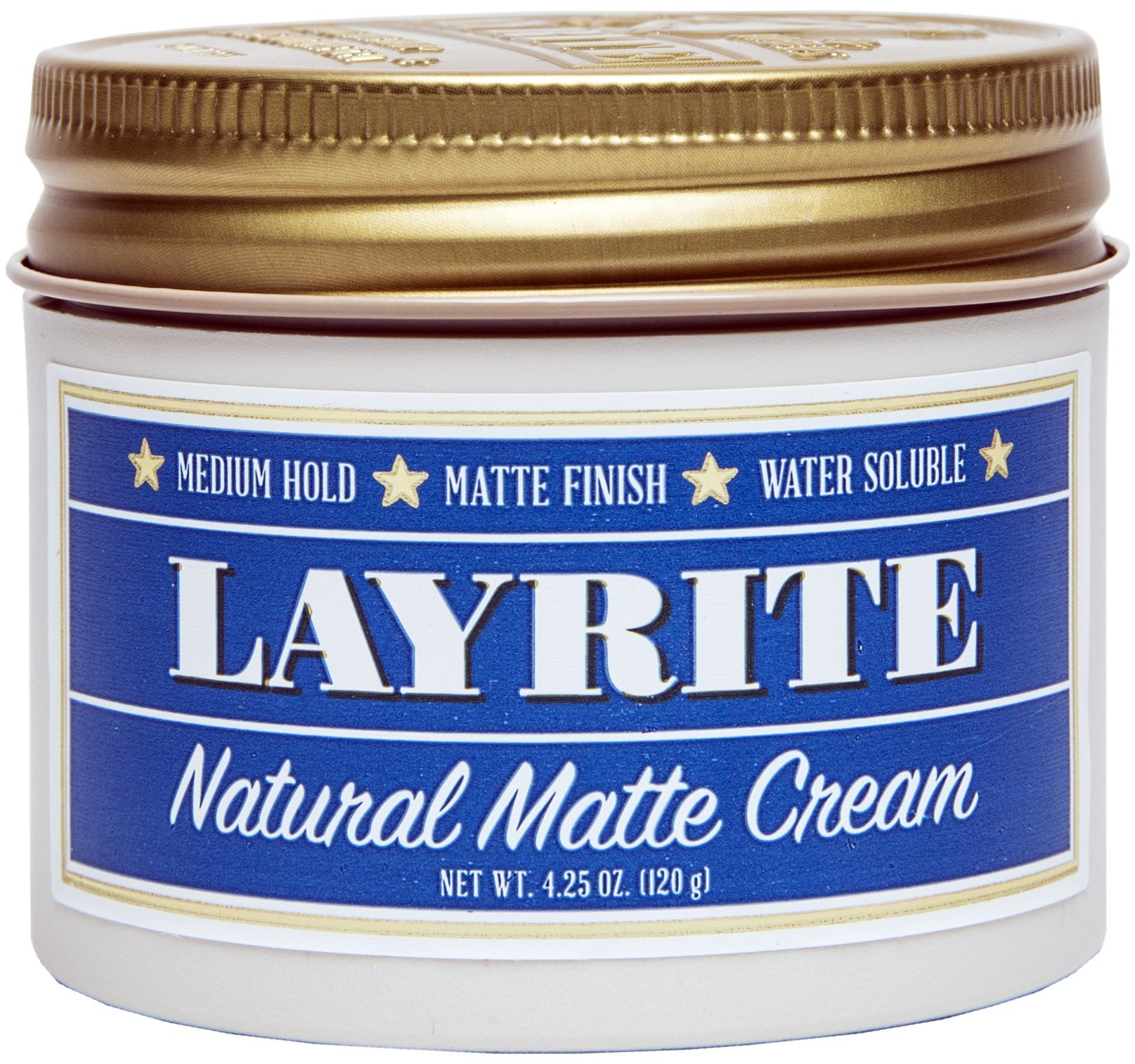 Layrite Natural Matte Cream Pomade, 4.25 oz. by Layrite