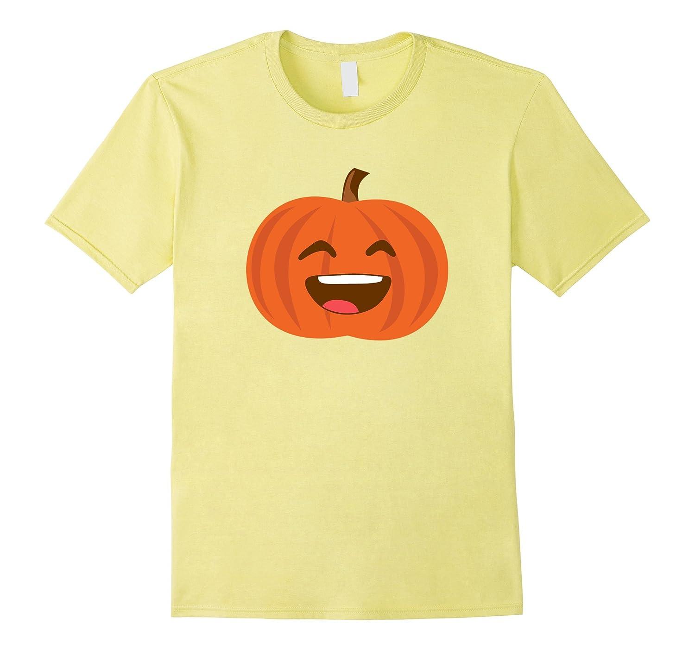 Pumpkin Smiling Emoji T-Shirt 31st October-Teevkd