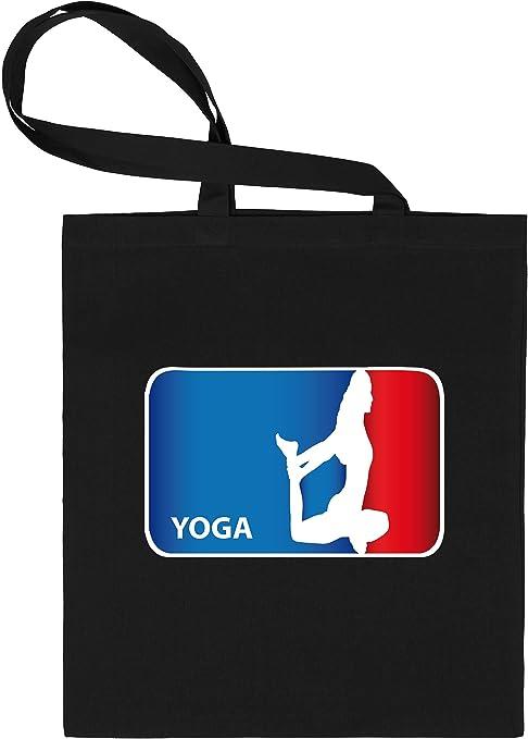 Yoga Bolsa de tela estampado por una cara con asas largas ...