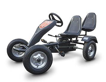 Go Kart a pedal para niños con motor de carreras y ruedas neumáticas ...