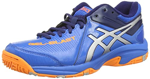 ASICS Gel-Blast 6 GS - Zapatillas de deporte interior, unisex ninos, color azul (electric blue/silver/hot orang 3993), talla 36: Amazon.es: Zapatos y ...