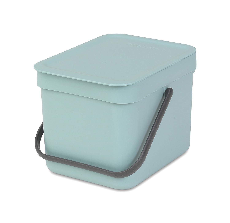 Brabantia Sort & Go Waste Bin, 6L/1.6 Gal. , 6 L, Mint