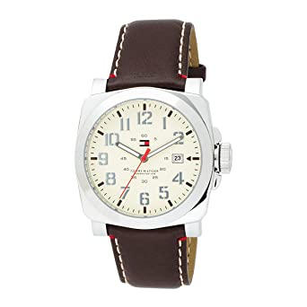 Tommy Hilfiger Mens 1710160 Classic Leather Strap Watch