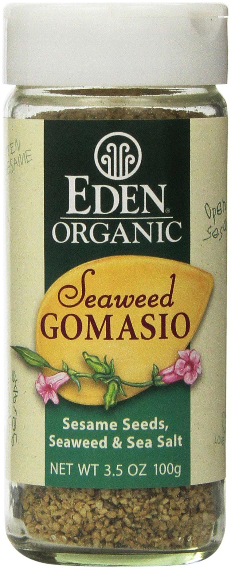 Eden Organic Seaweed Gomasio, Sesame Seeds, Seaweed & Sea Salt, 3.5-Ounce Shakers (Pack of 12)