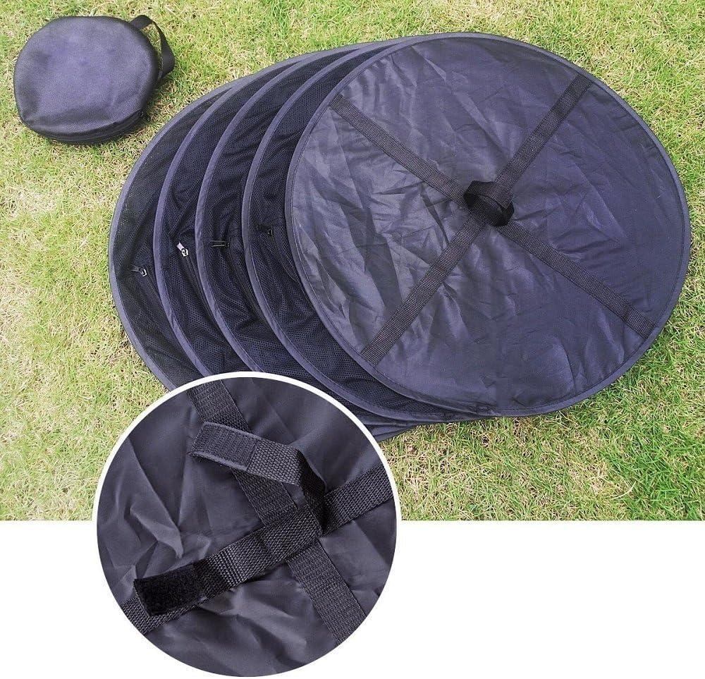 negro regalo para S colgar hebilla y bolsa de almacenamiento 4/Capa de Malla para colgar red de secado Rack seco hierbas arom/áticas con cremalleras