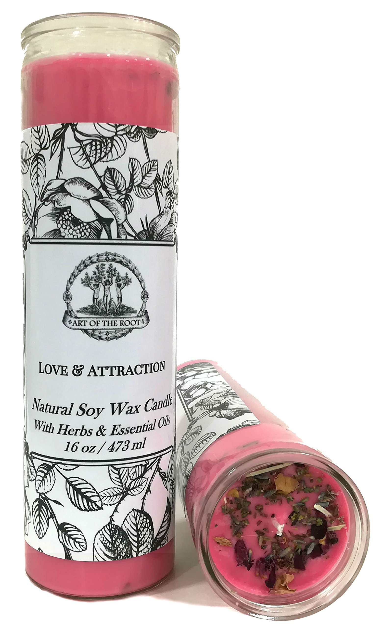 Love & Attraction 7 Day Soy Spell Candle (Fixed) for Relationships, Marriage Proposals & Commitment (Wiccan, Pagan, Hoodoo, Magick)