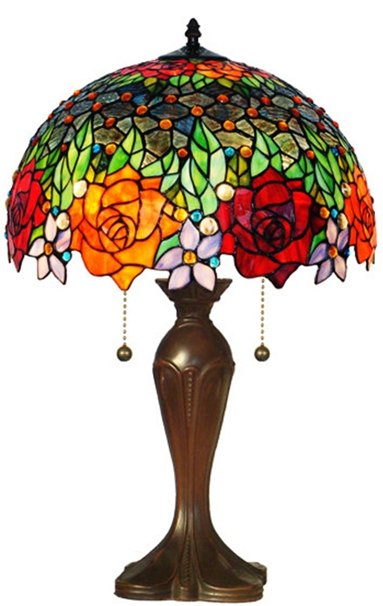 Amora Lighting Amora Lighting AM1534TL16 Tiffany Style Roses Table Lamp 23 In by Amora Lighting