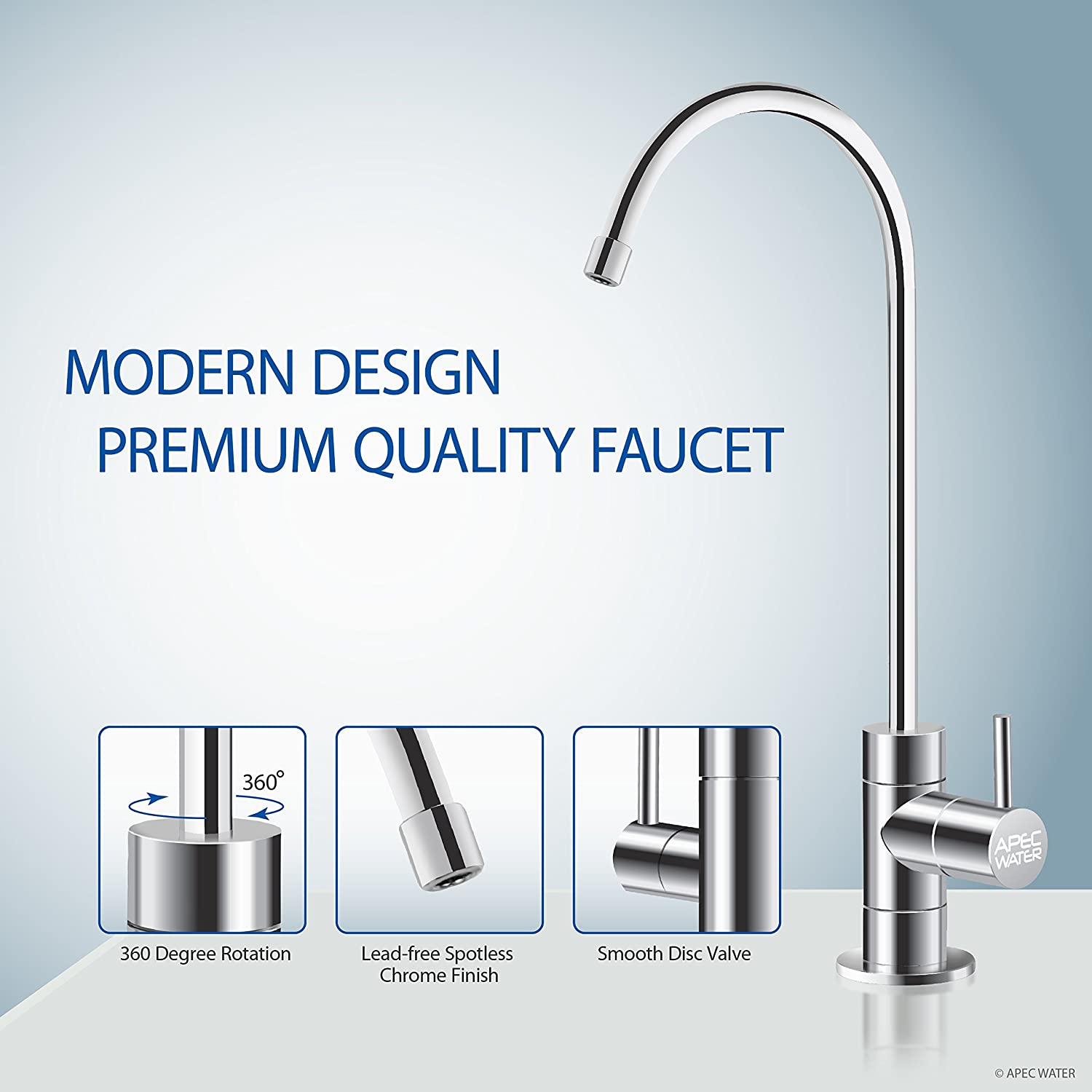 APEC WFS-1000 3 Stage Under-Sink Water Filter faucet