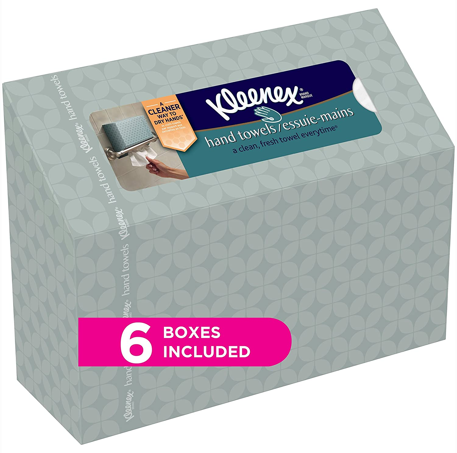 Kleenex Hand Towels, 60 Disposable Towels per Box, 6 Packs 00036000385861