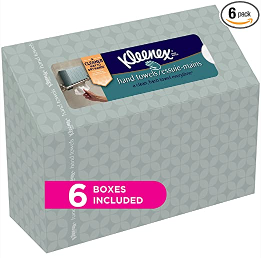 Kleenex Hand Towels Everyday, 60 Hand Towels per Box, 6 Pack