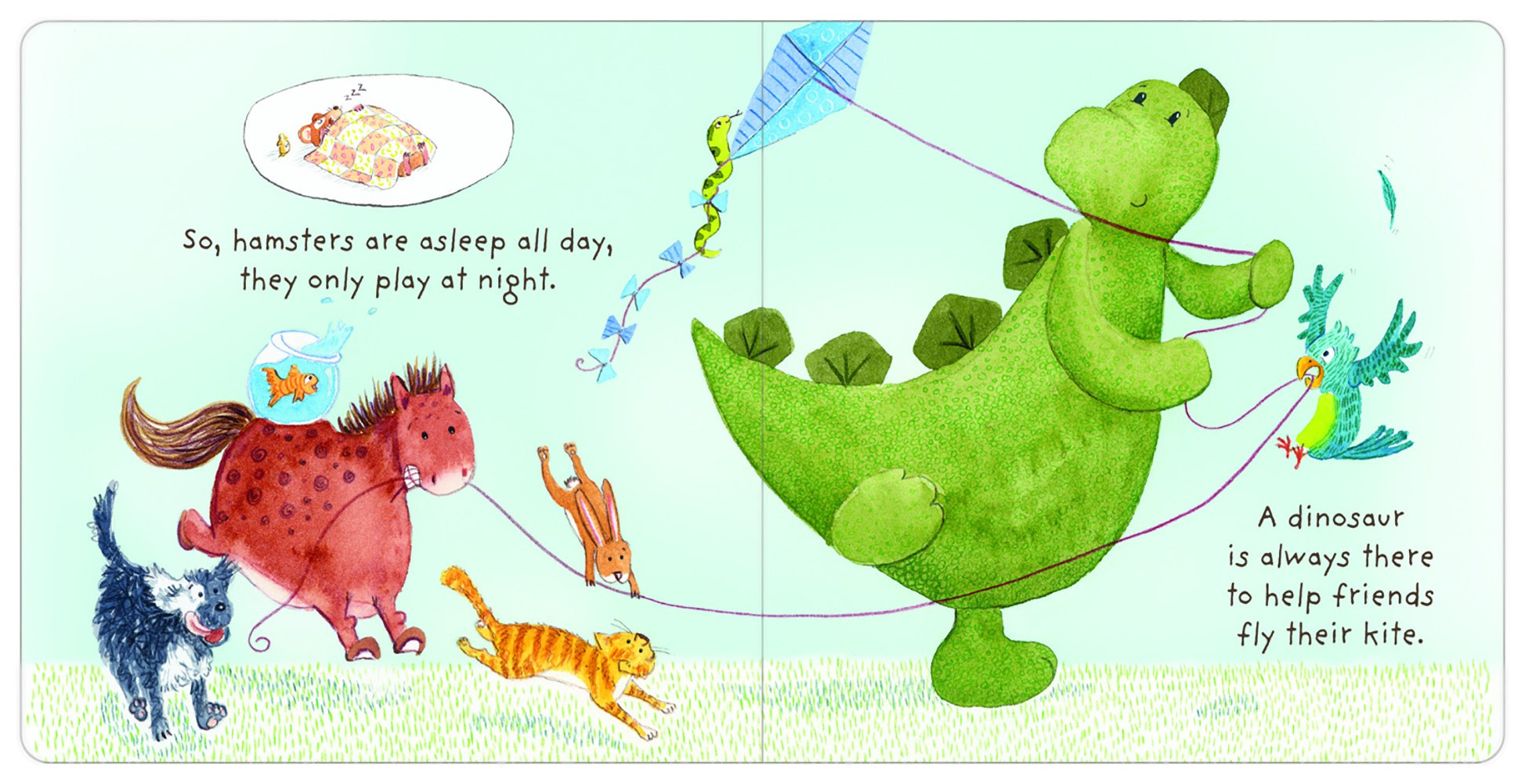 Jellycat The Best Pet Board Book and Bashful Dino, Medium - 12 inches by Jellycat (Image #1)