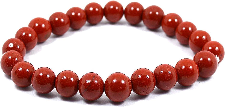 Neerupam colección Natural Jaspe rojo Piedra preciosa perlas de forma redonda Pulsera
