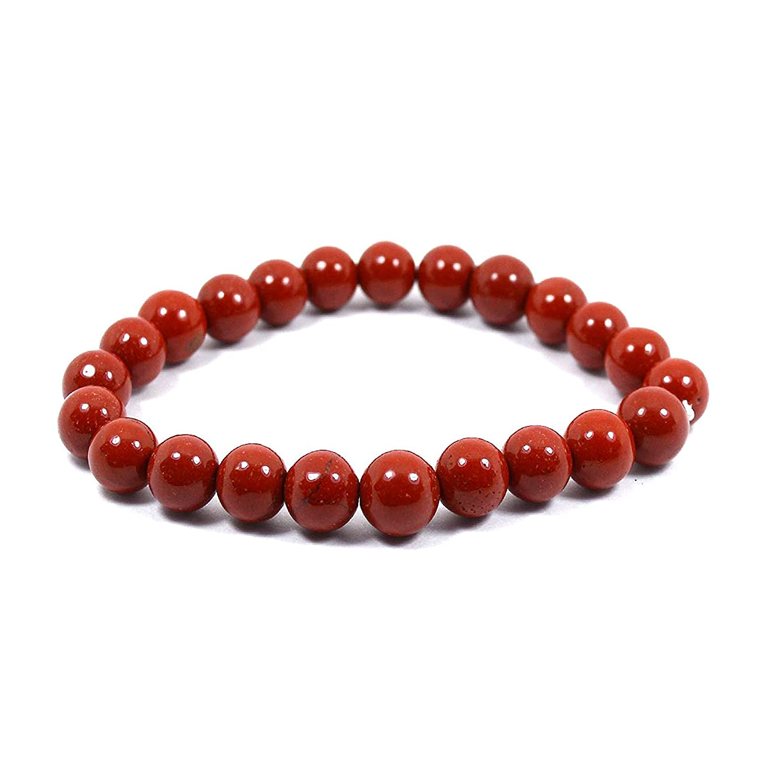 Neerupam Collection Natural Red Jasper gemstone round shape beads bracelet NC-BRC-RJAS-10MM