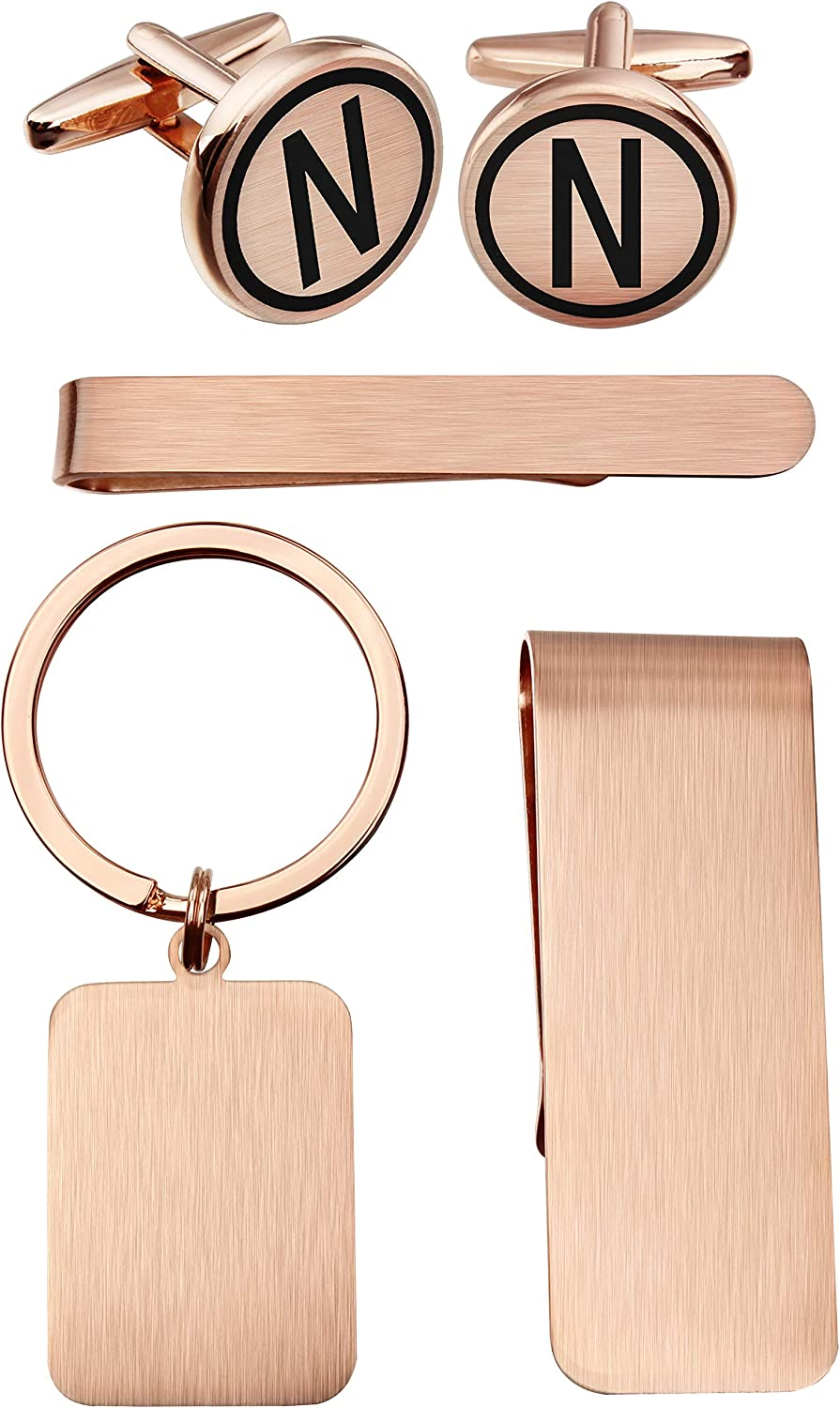 Engravable Rose Gold Tone Cufflinks with Presentation Box