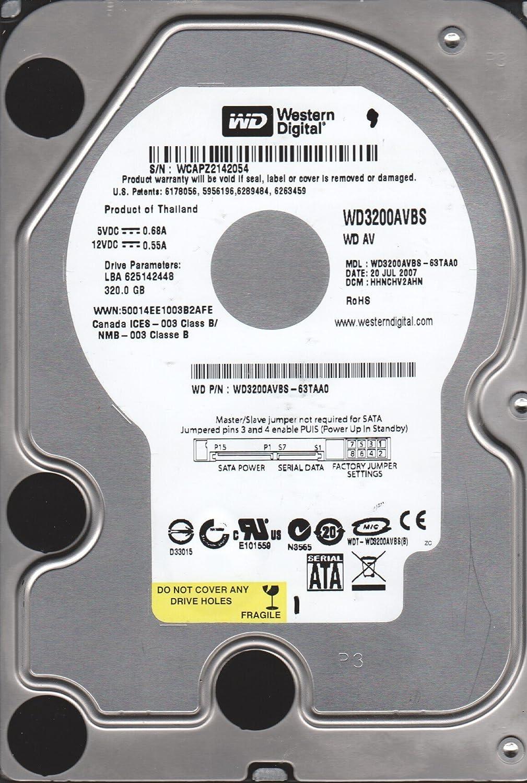 Western Digital 320GB SATA 3.5 Hard Drive WD3200AVBS-63TAA0 DCM HHNCHV2AHN