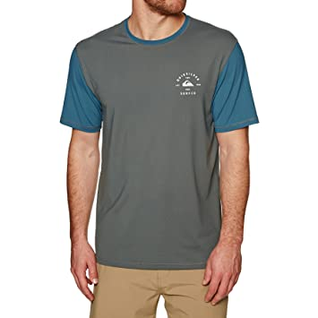 2018 Quiksilver Color Blocked Short Sleeve Surf Tee NAVY EQYWR03089 Sizes- - Small