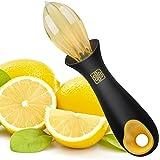Zestkit Manual Citrus Lemon Reamer Non-slip Soft grip, Yellow & Black