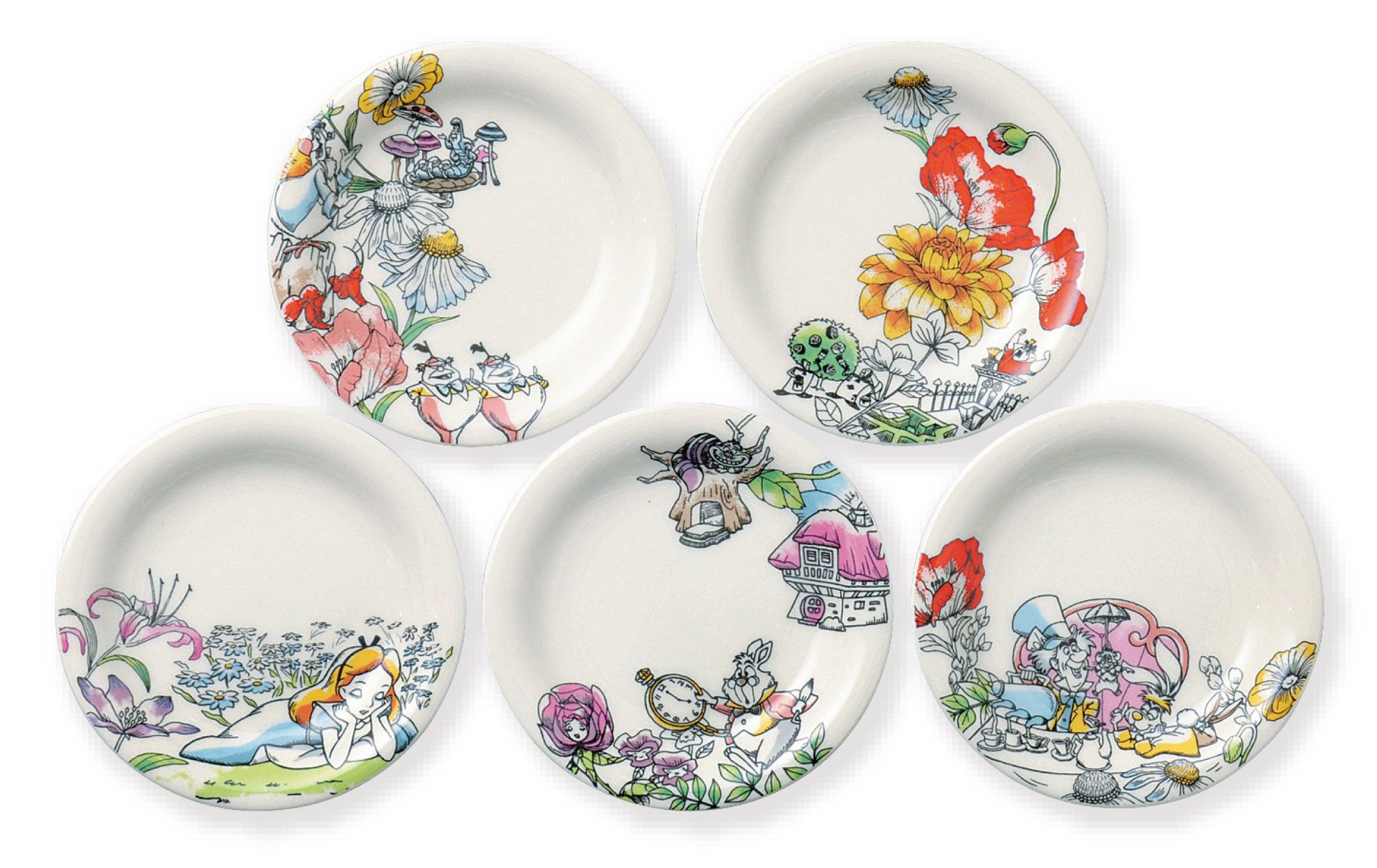 Disney Alice in Wonderland saucer Set of 5 D-AL01