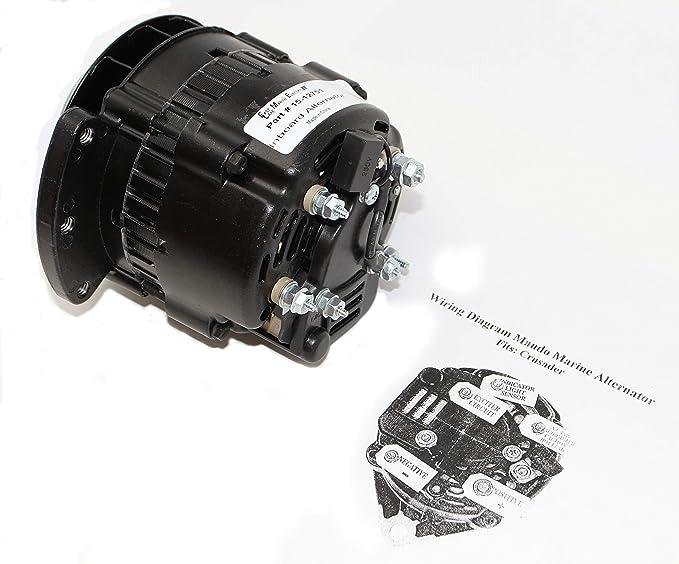 [GJFJ_338]  Amazon.com: ELM Products Compatible with Yamaha Crusader Marine Power Mando  Style Alternator 12V 55 Amp 60075: Automotive | Arco 60075 Wiring Diagram |  | Amazon.com