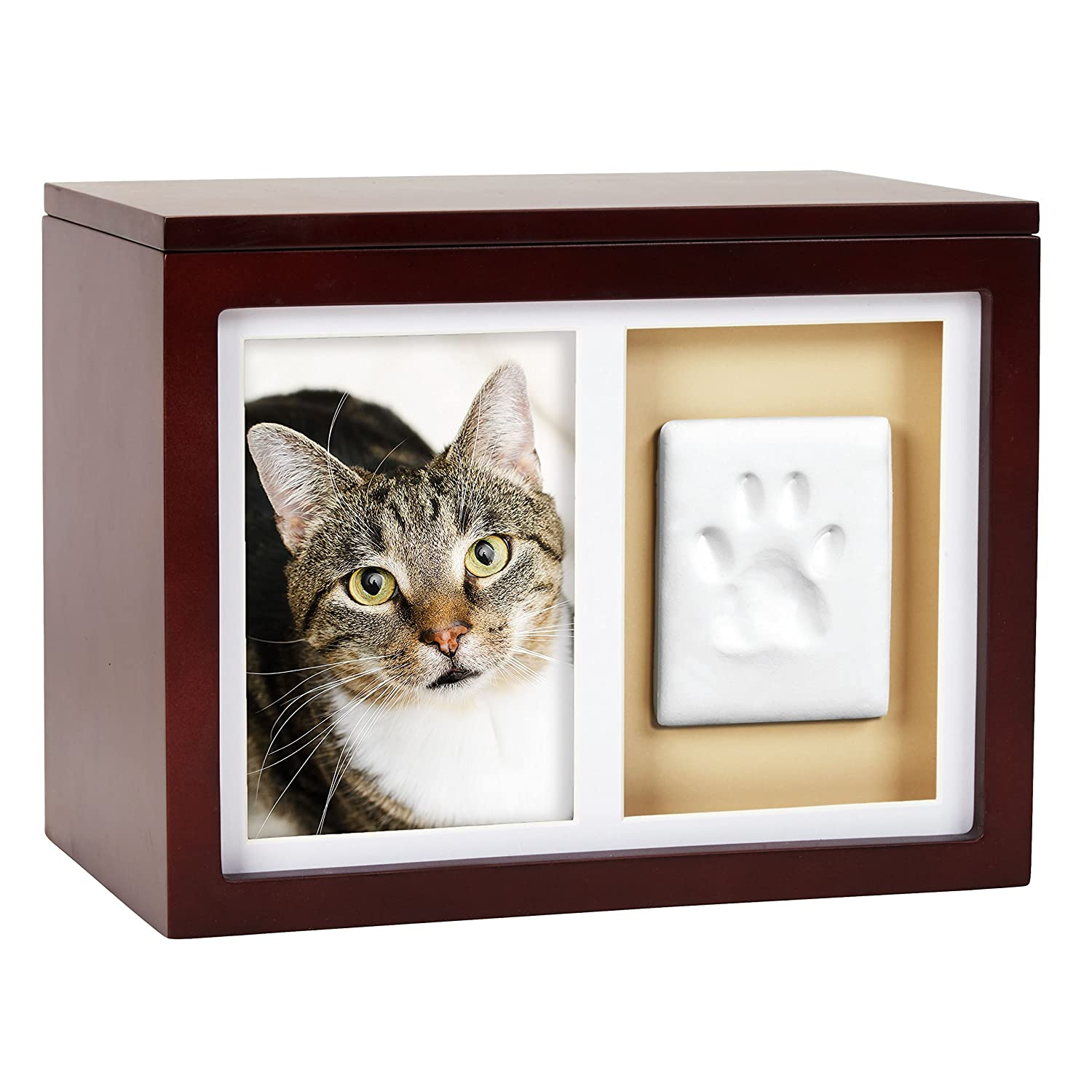14d00c0fe9f0 Amazon.com : Pearhead Dog Or Cat Paw Prints Pet Memory Box With Clay  Imprint Kit, Perfect Pet Memorial Espresso : Pet Supplies