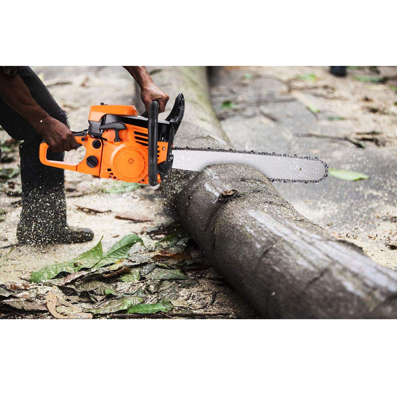 Meditool Motosierra de gasolina espada de 20″/50cm cilindrada motor 62CC 2.8 Kw/7500rpm: Amazon.es: Jardín