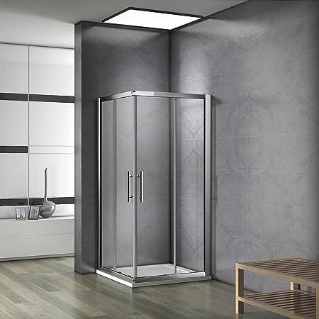 vente la plus chaude magasin sélectionner pour le dédouanement 80x80x185 cm Cabine de douche Porte coulissante Paroi de douche accès  d'angle verre sécurit