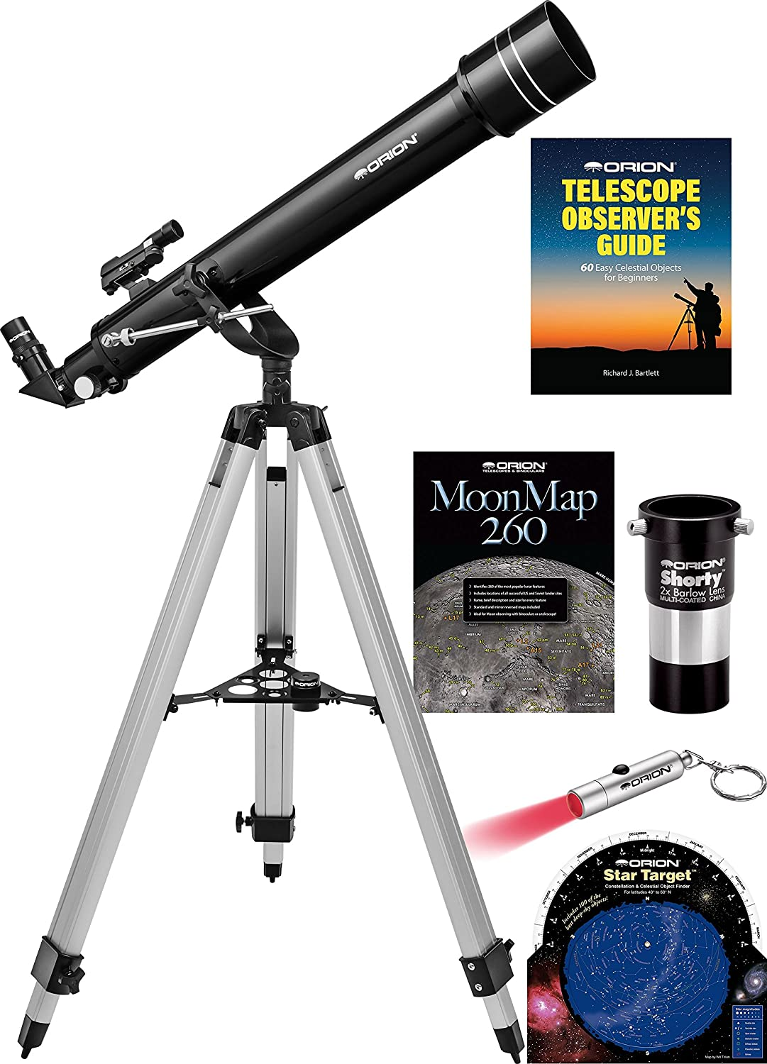 Orion Observer II 70mm Altazimuth Refractor Telescope Kit