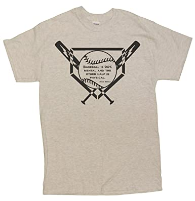 the best attitude 3be6d 68bb4 Amazon.com: Men's Baseball Is 90% Mental Yogi Berra Tribute ...