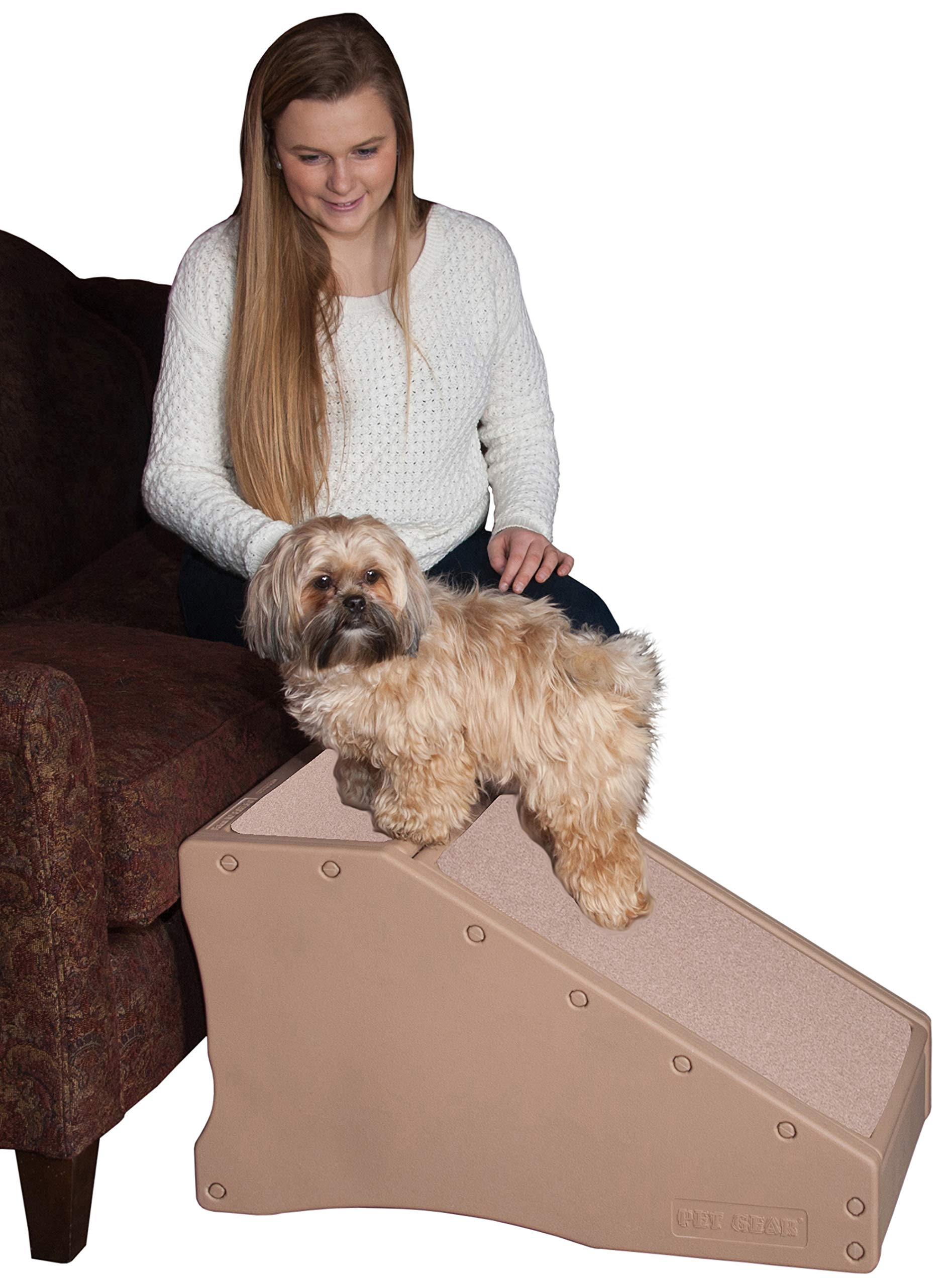 Pet Gear Stramp Stair and Ramp Combination, Dog/Cat Easy Step, Lightweight/Portable, Sturdy by Pet Gear